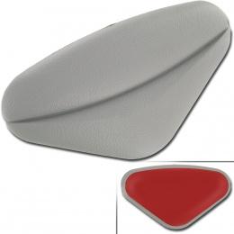 Soft tile pillow Gray